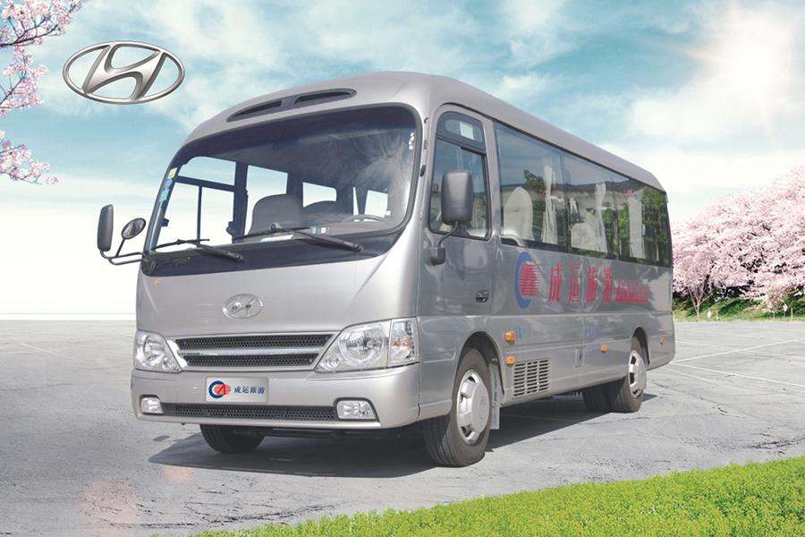 11座现代牌商务旅游客车